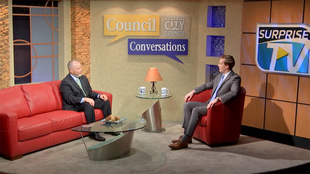 Councilmember Jack Hastings speaks with Deputy City Manager & Public Works Director Mike Gent on the Council Conversations show.