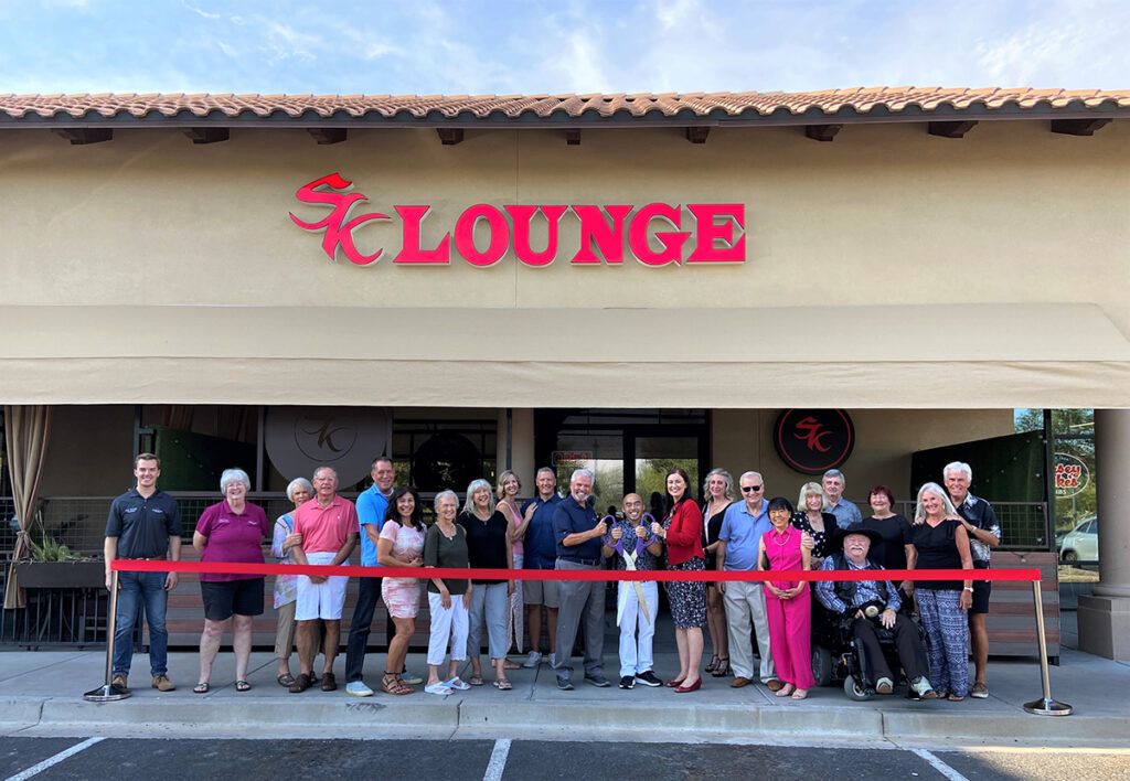 Surprise City Council and Saigon Kitchen cut a ribbon for the grand opening of SK Lounge.